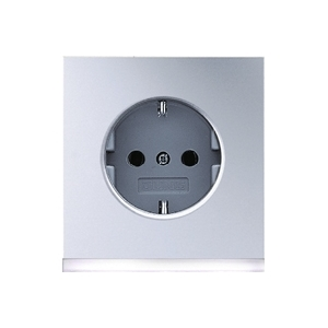 Розетка JUNG LS 990 AL AL 2520-0 LED W